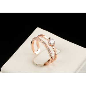 """Reguliuojamas vestuvinis žiedas """"Gold Color_Rose 2"""""""