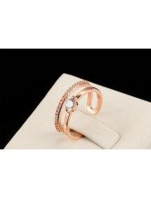 Nastavitelný svatební prsten Zlatá barva_Růže 1