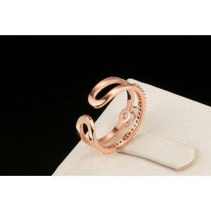 """Reguliuojamas vestuvinis žiedas """"Gold Color_Rose 3"""""""