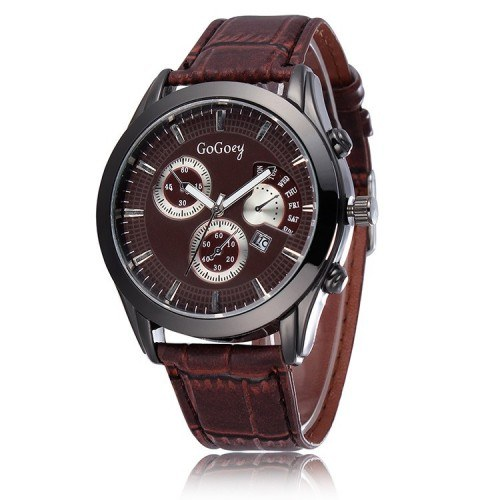 Men's Watch - Urban Savan - Leather - Brown