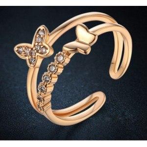 Anello Regolabile A Farfalla Colore Oro -