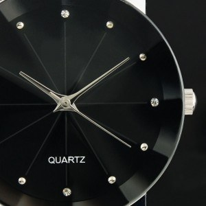 Relógio masculino - Supernovas - Couro sintético - Preto
