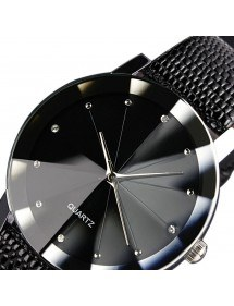 Men's Watch - SuperNovae - Faux Leather - Black 2