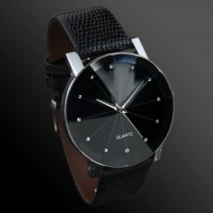 Men's Watch - SuperNovae - Faux Leather - Black 3