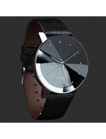 Men's Watch - SuperNovae - Faux Leather - Black 4