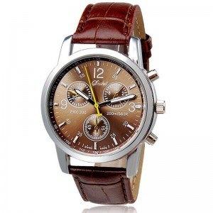 Reloj de los hombres - Savan - Imitación de Cuero - Marrón