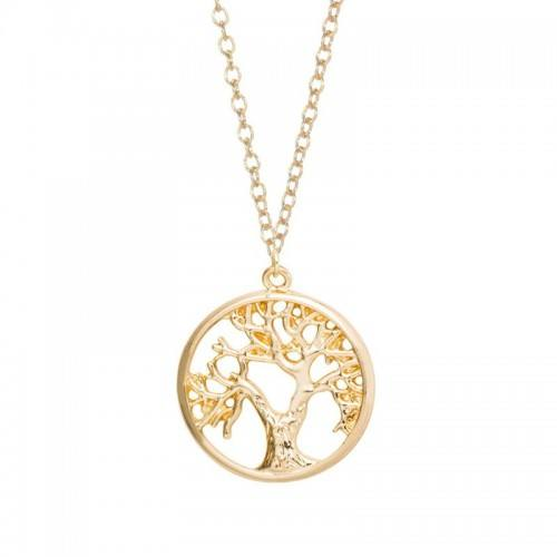 Necklace - Tree of Life - Retro - Gold