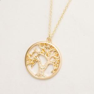 Necklace - Tree of Life - Retro - Gold 2