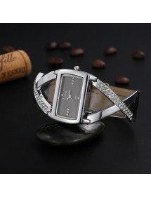 Guarda La Moglie - Nero-Diamanti - Design - Pelle - Nero-2
