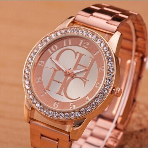 Shows Female - Pink-Diamond - Luxury - Stainless - Steel Or_Rose 2