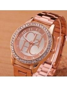 Montre Femme - Pink Diamonds - Luxe - Acier Inoxydable - Or_Rose 2