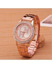Montre Femme - Pink Diamonds - Luxe - Acier Inoxydable - Or_Rose