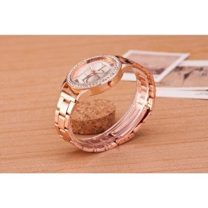 Shows Female - Pink-Diamond - Luxury - Stainless - Steel Or_Rose 4