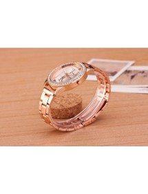 Montre Femme - Pink Diamonds - Luxe - Acier Inoxydable - Or_Rose 4