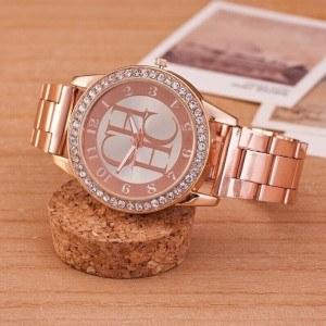 Montre Femme - Pink Diamonds - Luxe - Acier Inoxydable - Or_Rose 3