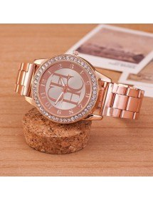 Shows Female - Pink-Diamond - Luxury - Stainless - Steel Or_Rose 3