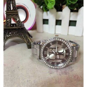 Montre Femme - Silver Diamonds - Luxe - Acier Inoxydable - Argent 2