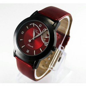 Montre Femme - Bloody Mary - Simili Cuir - Rouge
