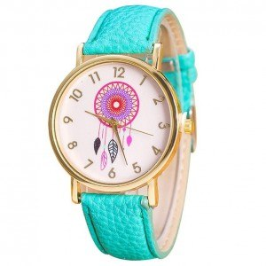 Montre Femme - Blue Dream - Attrape-Rêve - Simili Cuir - Bleu