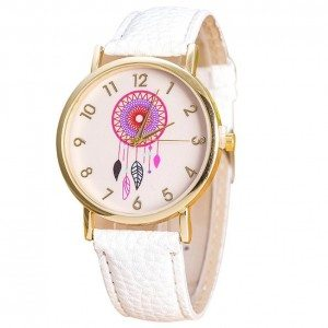 Montre Femme - White Dream - Attrape-Rêve - Simili Cuir - Blanc