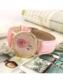 Reloj De Mujer Clara Rosa Sueño - Catcher-Sueño - De Cuero De La Pu 2 Rose_Clair