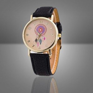 Watch Wife - Black-Dream - Catcher-Dream - Pu Leather - Black
