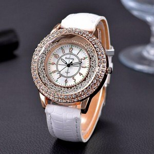 Watch Woman - Quicksand QuickSand - Beaded - Imitation Leather White
