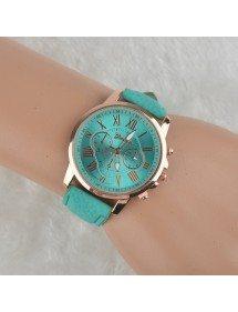 Orologio Donna - Semplicemente - Romano - Pelle - Bleu_Turquoise