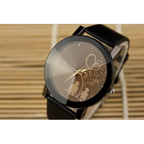 Watch Wife - Lovers - Couple In Love - Faux Leather - Black
