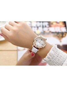 Watch Woman - Quicksand QuickSand - Luxury - Pearls - White Leather 2
