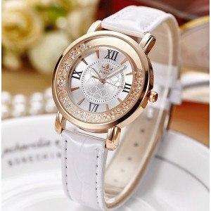 Reloj Mujer - Arenas Movedizas Arenas Movedizas - Lujo - Perlas - De Cuero Blanco 3