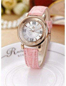 Reloj Mujer - Arenas Movedizas Arenas Movedizas - Lujo - De Perlas De Color Rosa De Cuero