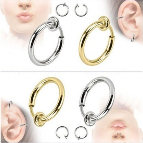Piercings - Fake-Rings-Clips - Nose/Ear - Lot of 2 - Or_Et_Argent