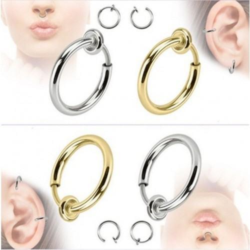 Lot de 2 piercings /à double /évas/ée en cristal transparent pour boucles doreilles