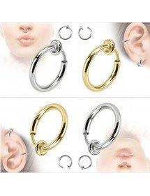 Piercings - Gefälschte Ringe Clips - Nase/Ohr - 2er-pack - Or_Et_Argent
