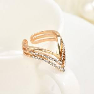 Ring Adjustable Design Gold Color