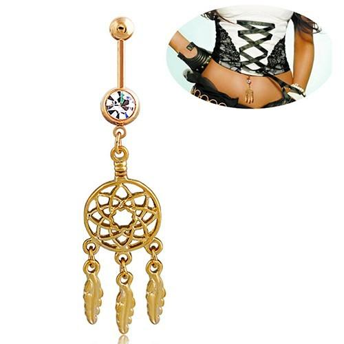 Piercing Belly Button - Catch Dream - Mini - Surgical Steel - Gold