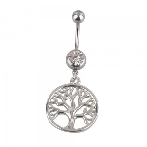 Piercing Belly Button - Tree Of Life - Surgical Steel - Silver