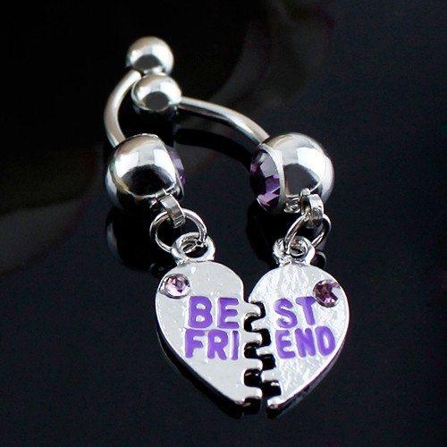 Piercing Nombril - Best Friends Lot de 2 - Acier Chirurgical - Argent