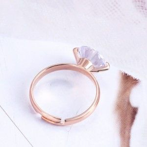 Ring Adjustable Solitaire Gold Color 2