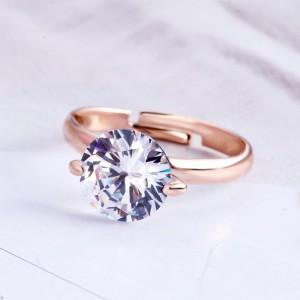 Ring Adjustable Solitaire Gold Color 3