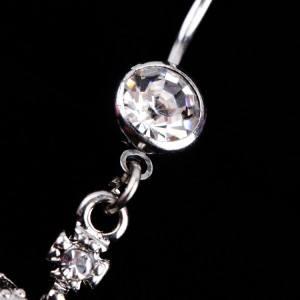 Piercing Nombril - Couronne de Diamants - Acier Chirurgical - Argent 2