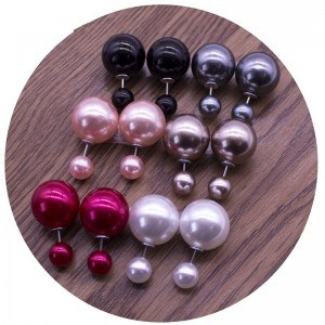 Earrings - Double Ball Brilliant - set of 6 - Multicolor