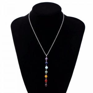 Collar - Sanación 7 Chakra De Piedras Naturales - Multicolor 1