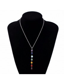 Collana Di Guarigione 7 Chakra Naturale Pietre - Multicolore 1