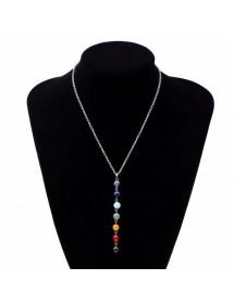 Collier - Guérison des 7 Chakra - Pierres Naturelles - Multicolore 1