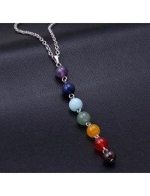 Collar - Sanación 7 Chakra De Piedras Naturales - Multicolor 3