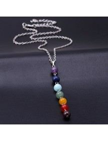 Collana Di Guarigione 7 Chakra Naturale Pietre - Multicolore 4