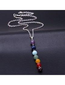 Collar - Sanación 7 Chakra De Piedras Naturales - Multicolor 4
