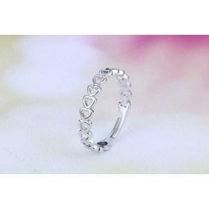 A Gyűrű Állítható Szív Ezüst Szín